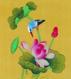 中国画荷花图片