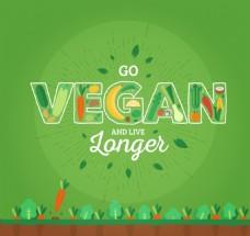 手绘绿色蔬菜背景