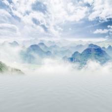 山脉仙境背景