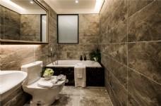 华丽欧式浴室效果图