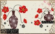 花纹背景墙
