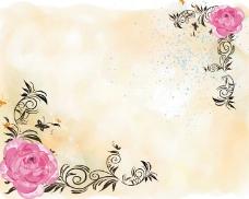 粉色玫瑰背景墙