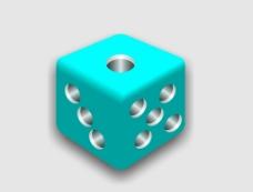 蓝色骰子分层图片