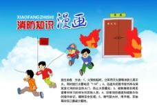 消防展板消防漫画图片
