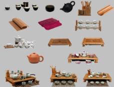茶具餐具psd透明图层图片