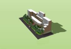 建筑鸟瞰图片
