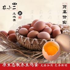 淘宝食品土鸡蛋主图