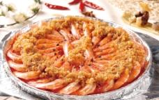 铁板蒜香烤虾图片