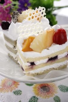 奶油蛋糕拍摄图片
