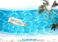 休闲旅游海报设计模板