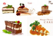 矢量卡通美味蛋糕素材图片