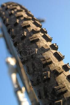 自行车轮胎特写