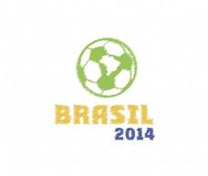创意简洁巴西世界杯海报