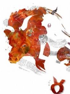 星座卡通图案 分层PSD_33
