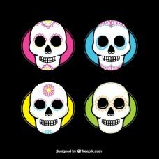 五颜六色的糖头骨