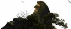 山顶卡通彩绘美图png元素