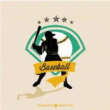 棒球运动员的标志