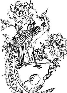 凤凰 凤纹图案 鸟类装饰图案 矢量素材 CDR格式_0004