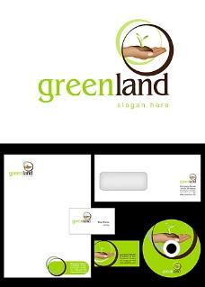 手和植物logo设计