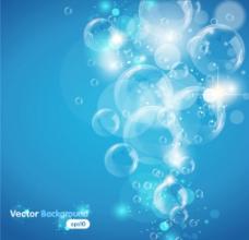 透明气泡背景矢量素材图片