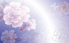 紫色牡丹背景图片