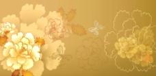 金色牡丹图片