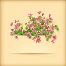 杏花背景矢量