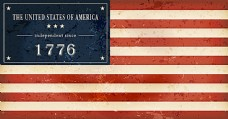 复古美国国旗独立日背景