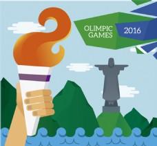 奥运火炬在巴西