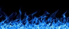 蓝色火焰背景