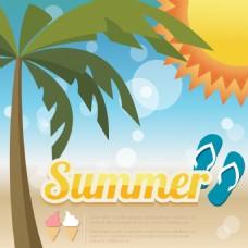 彩色夏季背景设计