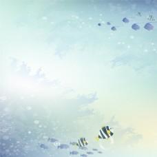 卡通海底背景