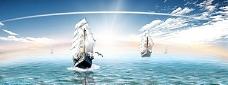 扬帆起航背景