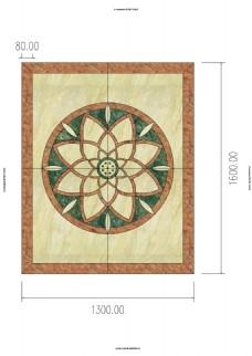 水刀地面瓷砖拼花CAD3