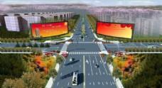 道路规划鸟瞰图  道路改造图图片