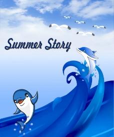 海豚海报图片
