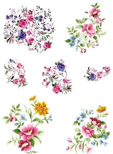 手绘花卉PSD分层文件图片