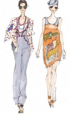鞋子手绘服装设计_手绘服装设计