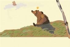 flash可爱的棕熊卡通动画