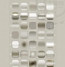35款银色质感的网页按钮样式