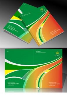 绿色封面设计模板矢量素材