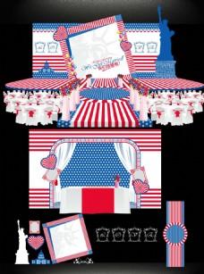 美式婚礼主图模板