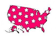 星星图案情人节美国
