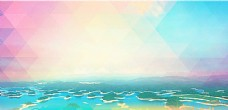 酷炫湖岛五彩背景图片