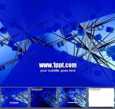 蓝色商务PPT背景