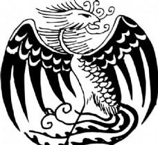 凤凰 凤纹图案 鸟类装饰图案 矢量素材 CDR格式_0096