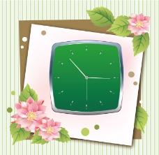 花纹钟表 矢量图