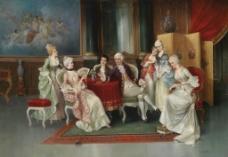 油画宫廷人物图片