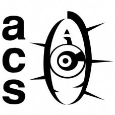 ACS公司眼睛黑色A字母LOGO设计
