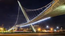高清大桥夜景